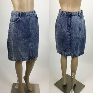 Candies High Waisted Vintage Denim Skirt Size 12